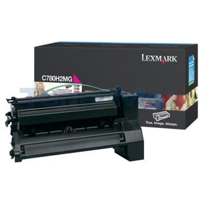 LEXMARK C780 X782 TONER CARTRIDGE MAGENTA 10K